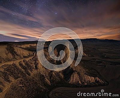 Starry desert