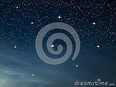 Starry night dark blue