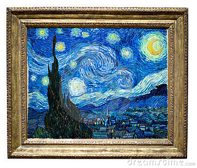 Starry Night Painting By Vincent Editorial Image