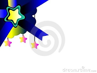 Star on abstract colorful background