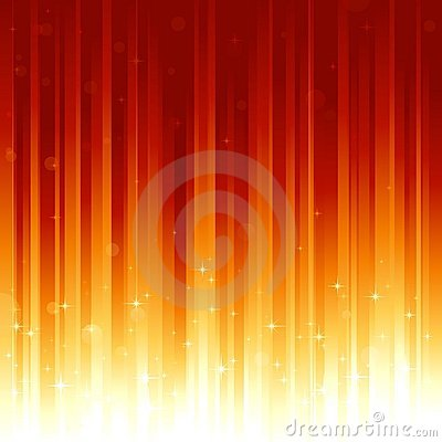 Free Stars And Defocused Light Dots On Red Golden Verti Royalty Free Stock Image - 10545906