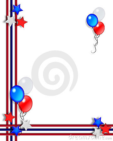 Free Stars And Stripes Patriotic July 4th Border Royalty Free Stock Image - 5209396
