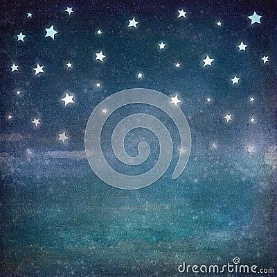 Free Stars At Night Grunge Sky Stock Photography - 56307212