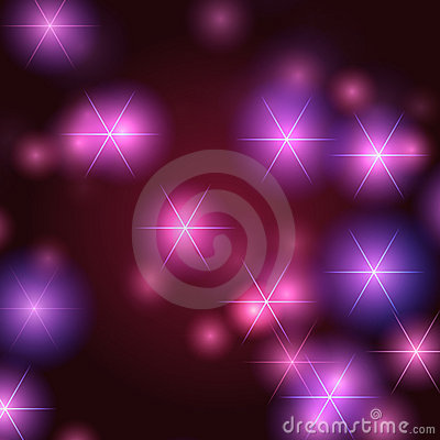 Stars background in violet