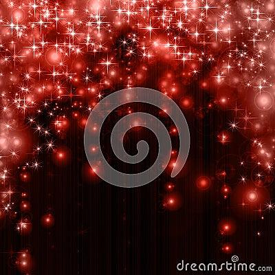 Stars descending on  background