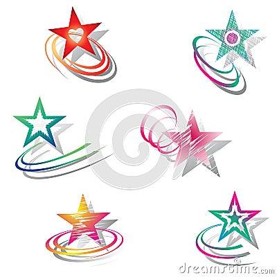Stars. Design elements set.