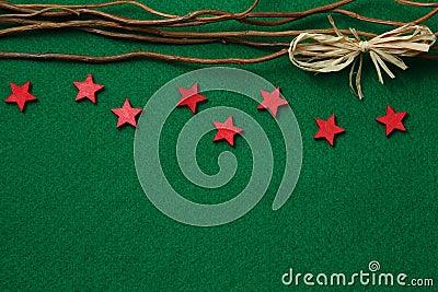 Stars on felt background
