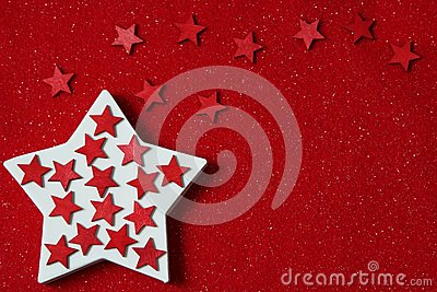 Stars on felt background