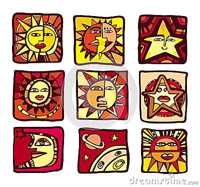 Free Stars Icons Royalty Free Stock Photos - 3583508