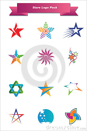 Free Stars Logo Pack Royalty Free Stock Images - 25094639