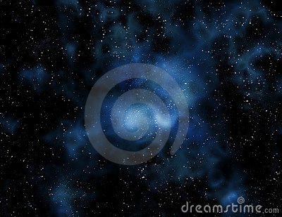 stars and nebula in Deep space