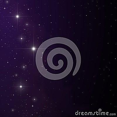 Stars and nebula vector