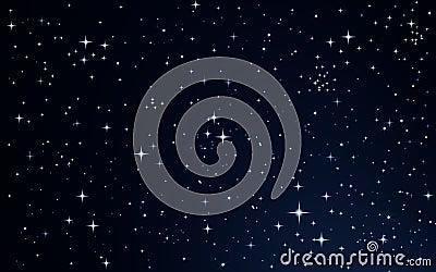 Stars in the night sky Stock Photo