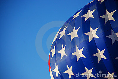 Stars (but no stripes) Hot Air Balloon USA Flag