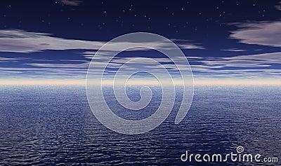 Stars over Ocean