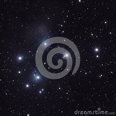 Stars in the Pleiades (M45)
