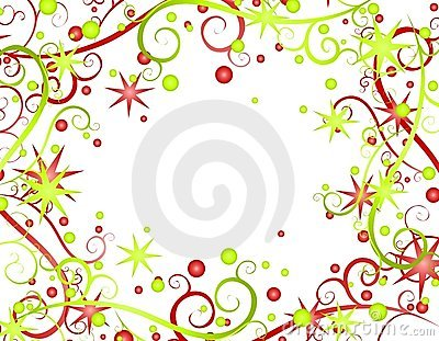 Stars Ribbons Christmas Background 2