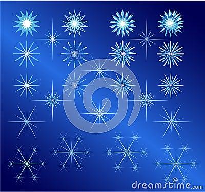 Stars set for christmas and winter