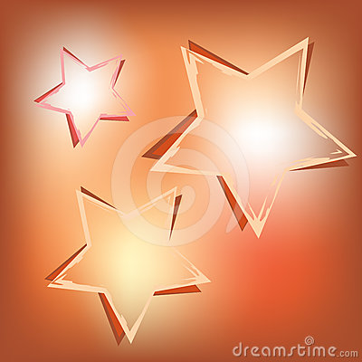 Stars on shining background