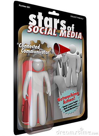 Stars of Social Media Action Figure Communicator