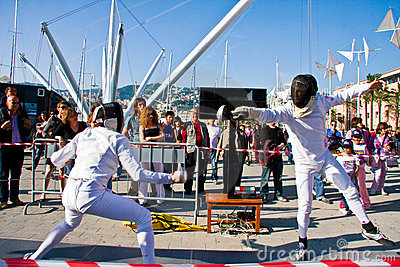 Stars in the Sport - Fencing Editorial Stock Photo