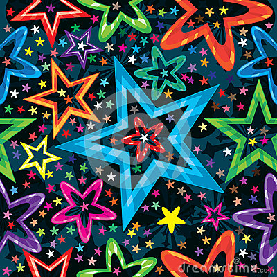 Stars Staring Seamless Pattern_eps