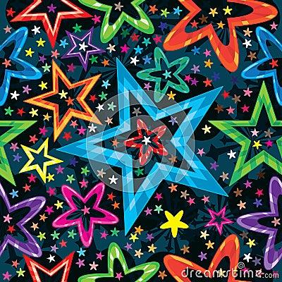 Free Stars Staring Seamless Pattern_eps Stock Images - 25051324