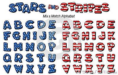 Stars & Stripes Alphabet