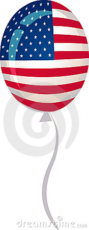 Stars and stripes balloon