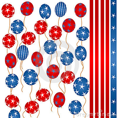 Stars and stripes balloons