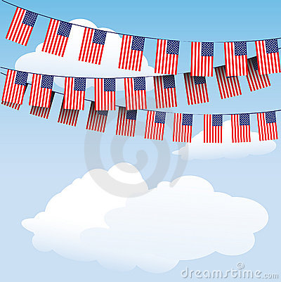 Stars and Stripes bunting flags