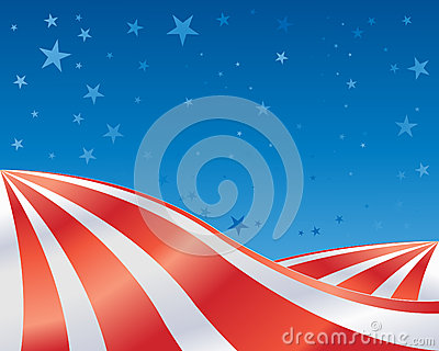 Stars and stripes landscape