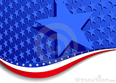 Stars and Stripes Landscape with large star