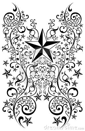 Stars tribal art illustration - tattoo - vector