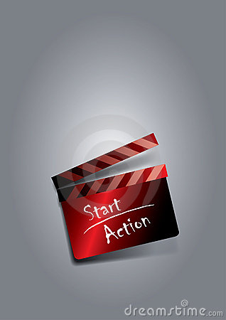 Start action clapboard