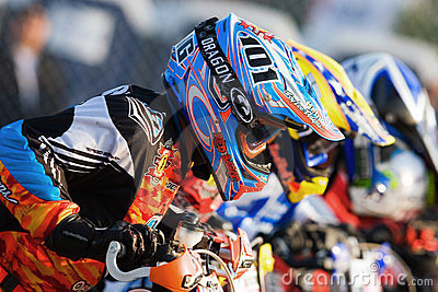 Start of the the AMA Supmoto Unlimited Race Editorial Photography