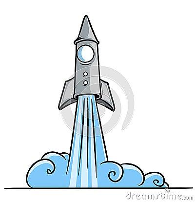 Start blast-off a rocket cosmos