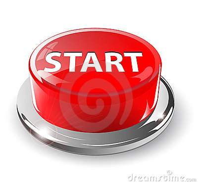 Start button, 3d red.