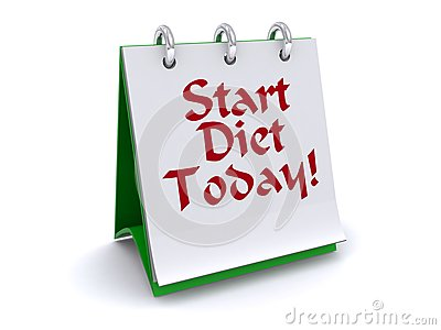 Start diet today sign