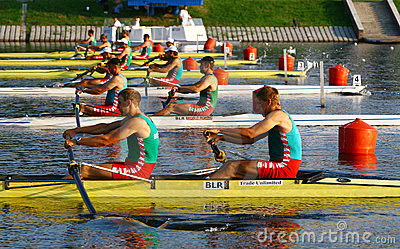 At the start of finals in rowing Editorial Stock Image