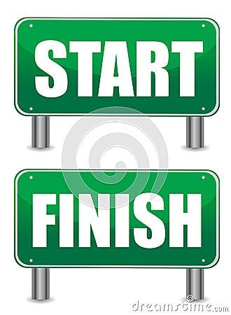 Start Finish Illustration Banners Stock Photos Image