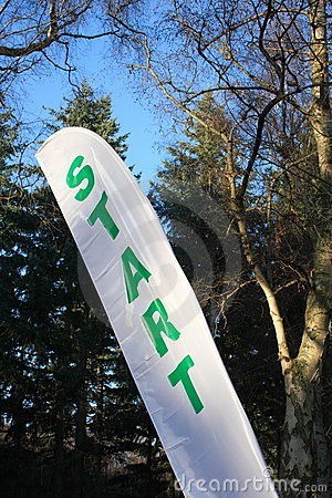 Start Flag at an Sports Event