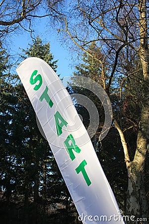 Start Flag at an Sports Event
