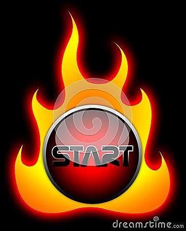 Start Flame Button
