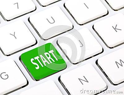 Start on keyboard