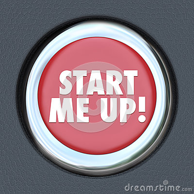 Start Me Up Car Starting Button Engine Excitement Arousal