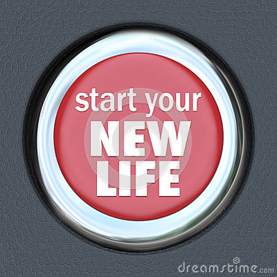 Start a New Life Red Button Press Reset Beginning