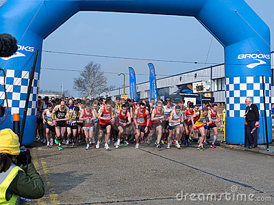 Start of Paddock Wood Half Marathon Editorial Photo
