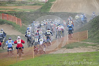 Start of the race Editorial Stock Photo