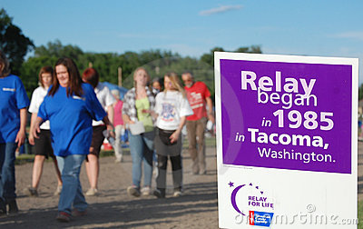 Start of Relay for Life Editorial Stock Photo